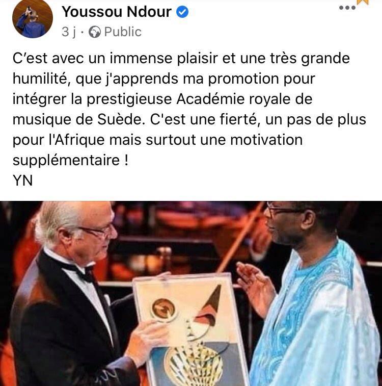 Youssou Ndour académie royale