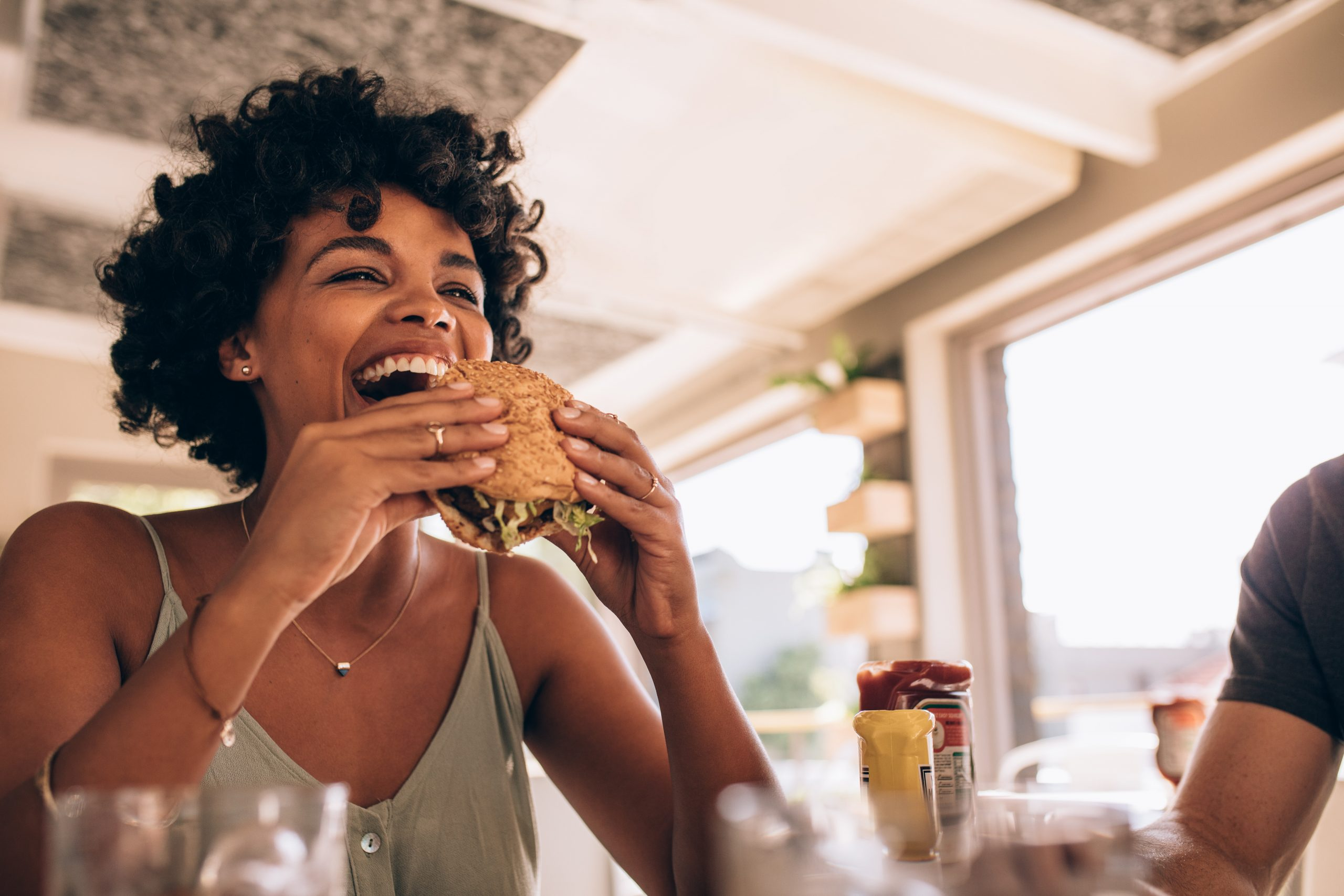 Black woman eat