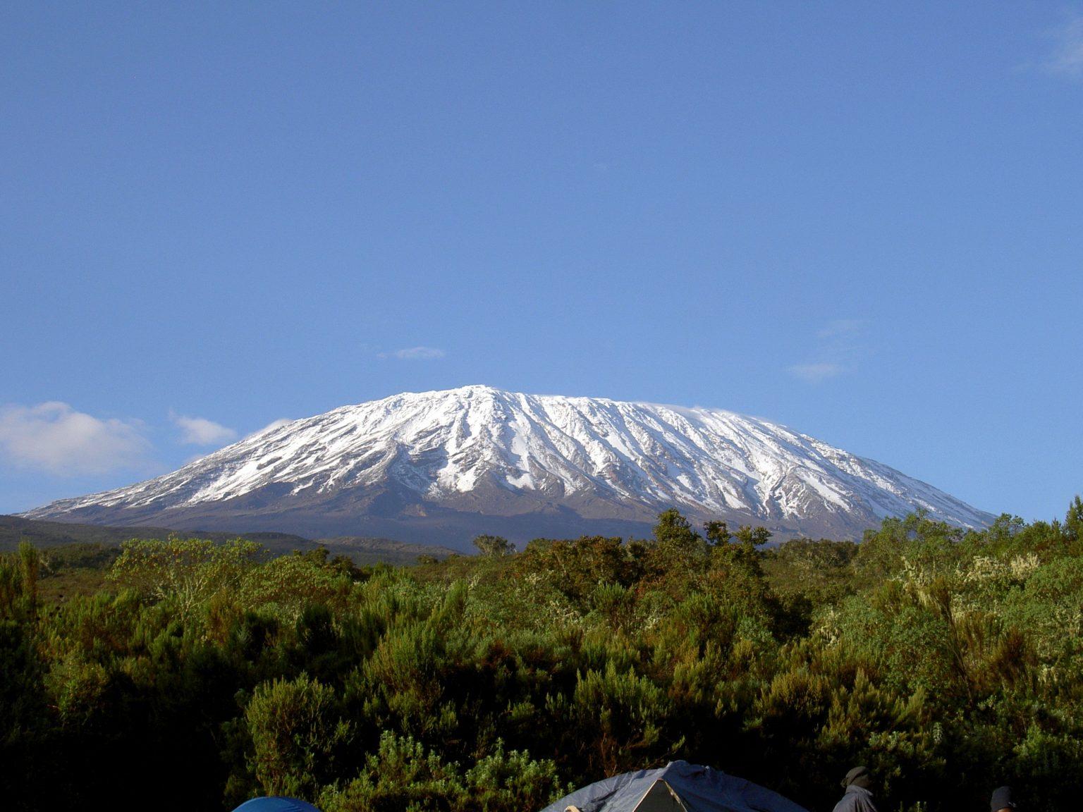 Kilimandjaro en feu