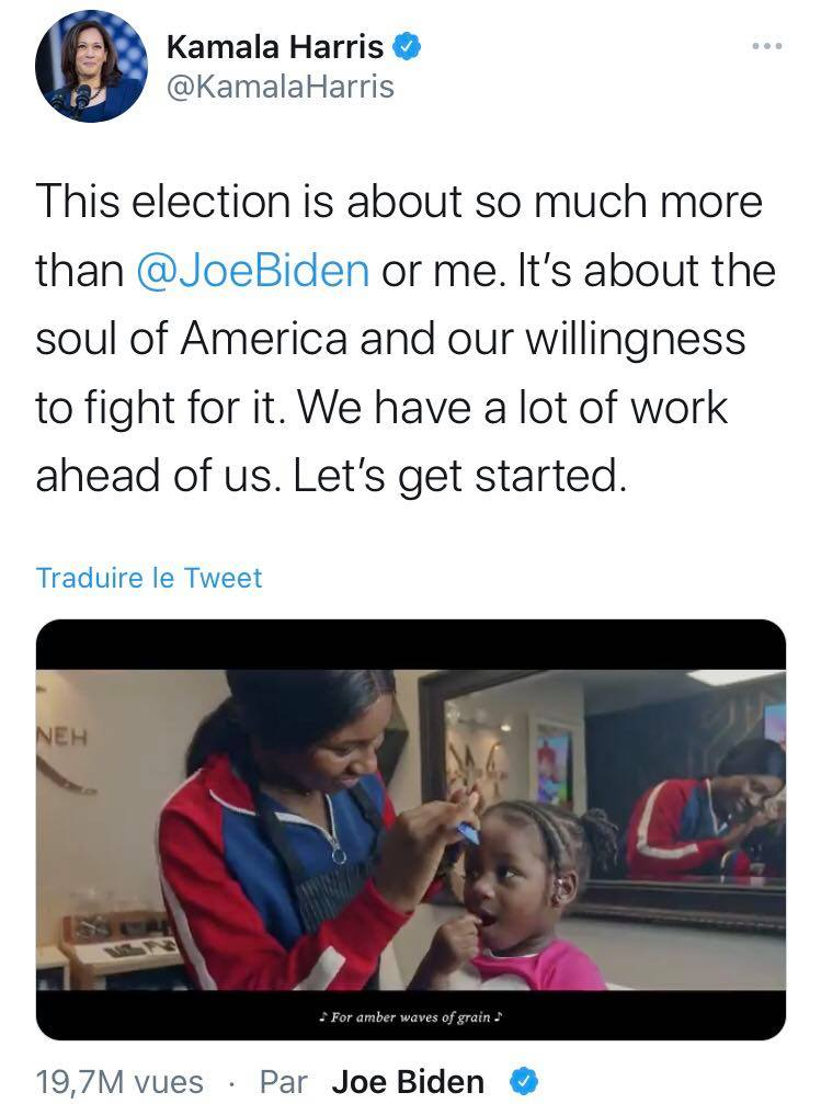 Kamala Harris about his nomination