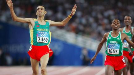 Hicham El Gerrouj,  parmi les 10 meilleurs athlètes africains