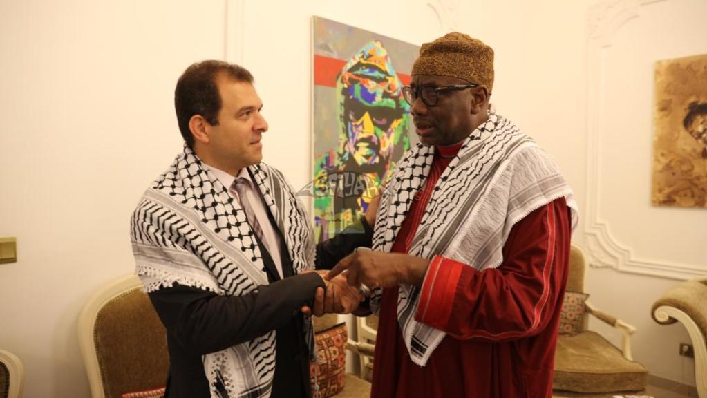 Safwat Ibraghith et délégation du Khalife général des Tidianes