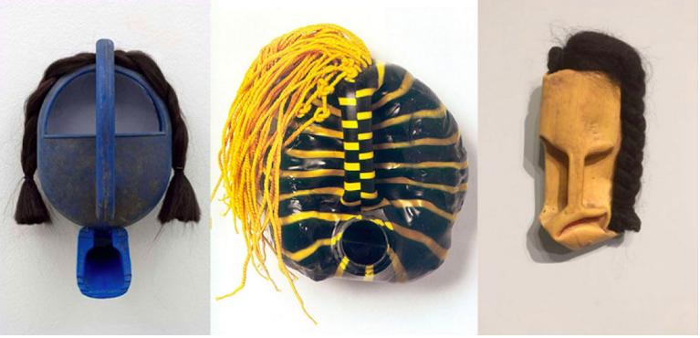 Quelques masques de Romuald Hazoumé. Tirés du blog Also Known as.